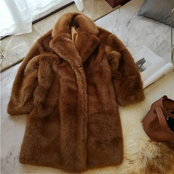 2019 New Fox Fur Coat for Women Winter Natural Sheep Shearing Full Pelt Thick Warm Coat Luxury Long Fox Fur Jacket