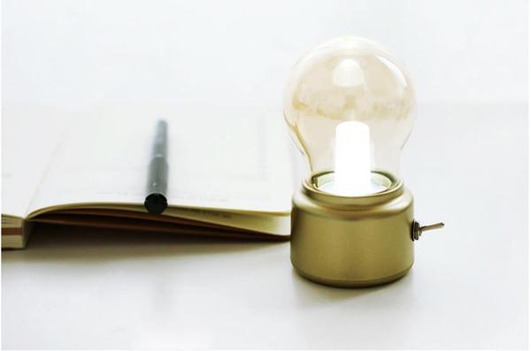 JP- DPD retro lâmpada recarregável pequena luz noturna atmosfera lâmpada criativa lâmpada de cabeceira saudade USB estilo britânico warm