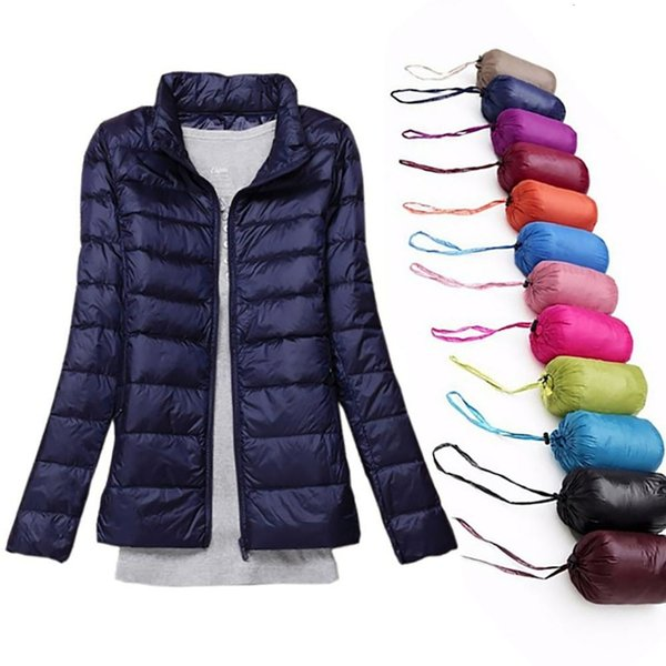 Autumn Jacket Women Winter Indoor 90% White Duck Down Coats Short Parkas Spring Hooded Outerwear Brand Casual Female Slim Tops Y191031