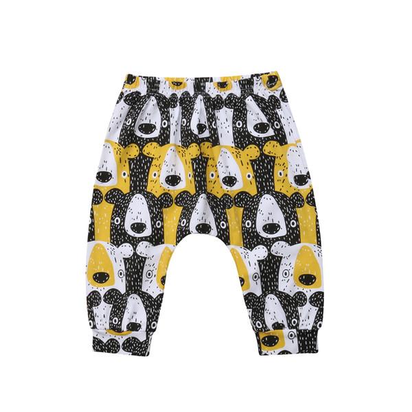 Infant Newborn Baby Boys Girls Cartoon Pants Cute Bear Bottoms Harem Leggings Pants Trousers