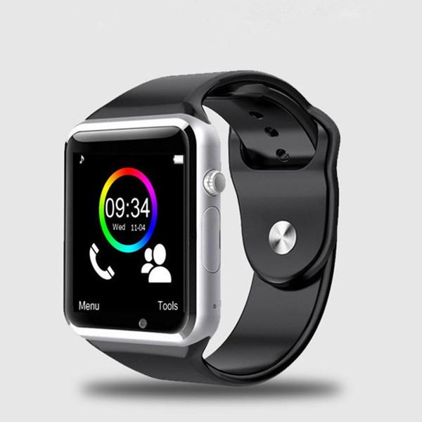 Tragbare android intelligente intelligente uhr sim wasserdichte bluetooth sporttelefon smartwatch a1 mit kamera mit kleinkasten
