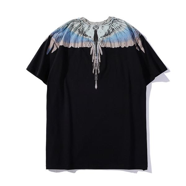 TOP Marcelo Burlon T-Shirt Men Milan Feather Wings T Shirt Men Women Couple Fashion Show RODEO MAGAZINE T Shirts Goros camisetas