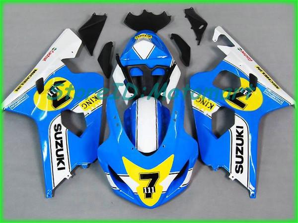 SUZUKI GSXR600 için motosiklet Fairing kiti 750 K4 04 05 GSXR 600 GSXR 750 2004 2005 Kırmızı gümüş siyah Fairings seti SF57