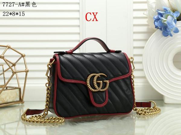 bolsa pequena série clássica das mulheres da moda mãe quente Lady cadeia de saco a granel mulher elegante ondulado saco bolsas de ombro bolsa de couro T68