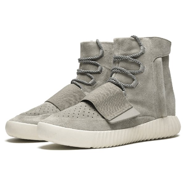 Kanye West 750 Boost Mens Triple Schwarz Grau Gum Hohe Ankle Sportschuhe Designerschuhe Sneaker Skateboard Schuhe Lässige Mode Stiefel EUR39-46