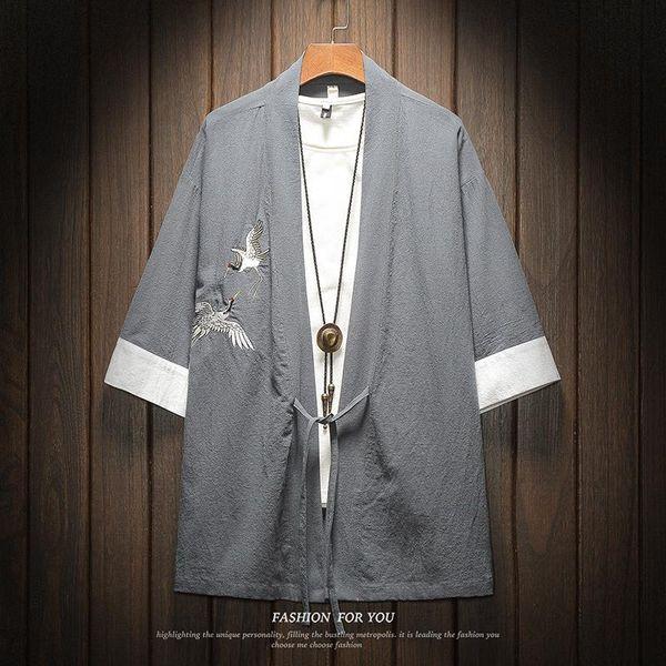 Chemise Kimono Bleue