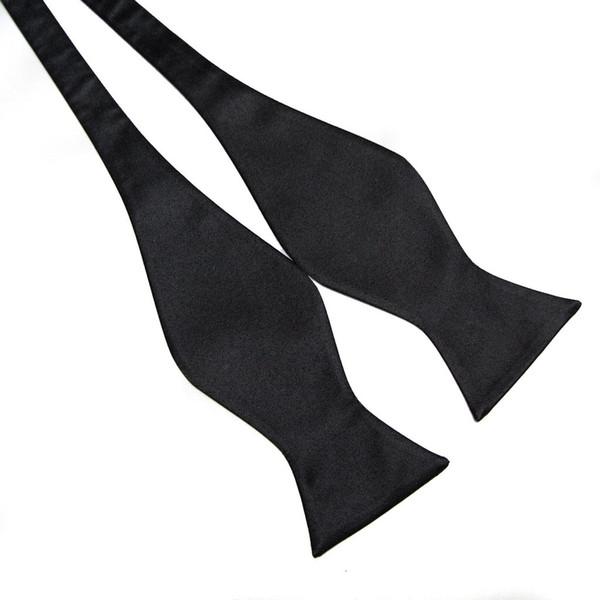 2019 bowties cor sólida Self Tie laço aberto dos homens Laços borboletas gravata