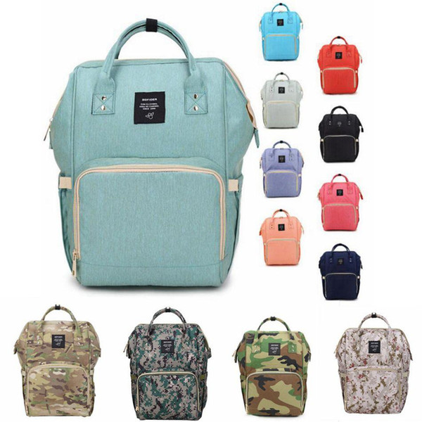 Free DHL INS Stylish Diaper Bags Mommy Backpack New Design Nappies Backpack Fashion 19 Colors Mother Maternity Backpacks Outdoor Diaper Bags