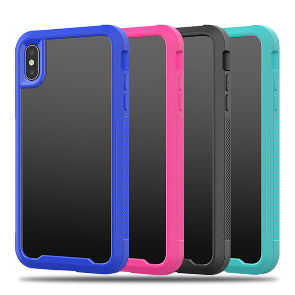 Hybird Armor Protective case for iPhone X XR XS MAX HighTransparent clear cellphone cover for 6s 7 8 plus universal
