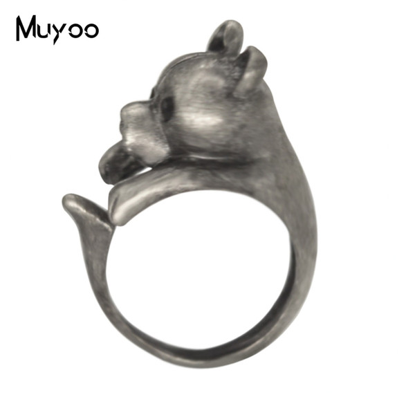 2019 New Vintage Ancient Silver Cute Animal Rings Art Personality Couple Birthday Gift
