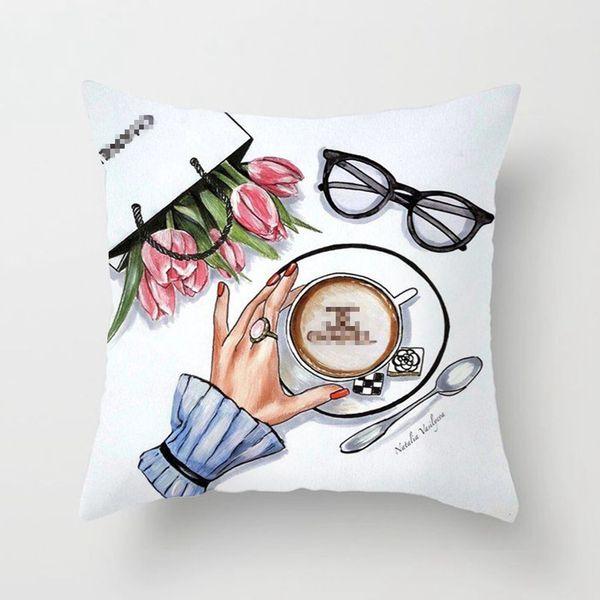 45 * 45 cm funda de almohada Cojín almohada Almohada Cojín de moda de costura del amortiguador del sofá del envío de DHL con la almohadilla decorativa