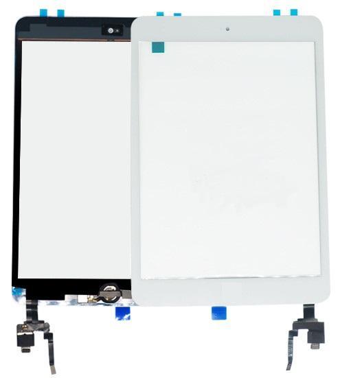 Nuovo touch screen Digitizer Touch Screen con IC con tasto Home 3M Adesivo Vetro esterno lente Sostituzione pannello di montaggio per iPad Mini 3