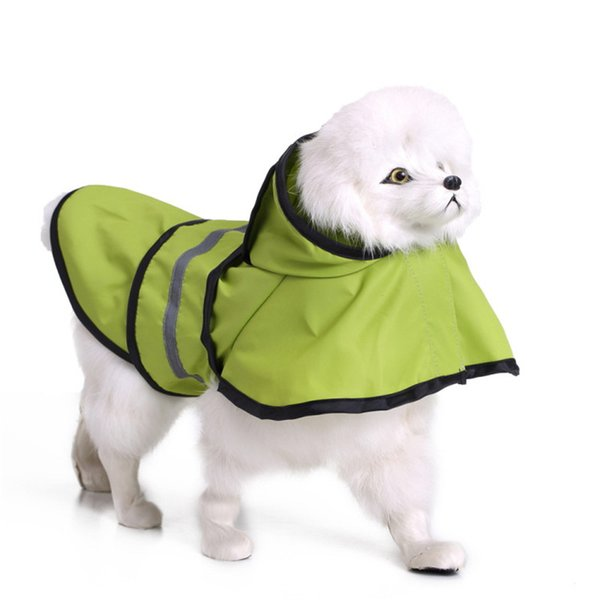 pet dog accessories pet dog clothes pets raincoat with cap dogs raincoats Impermeabili Primavera e Estate animali vestiti drop ship