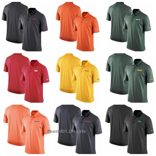 Men Jets Packers Broncos Bears Panthers Falcons Team Stadium Performance Polo