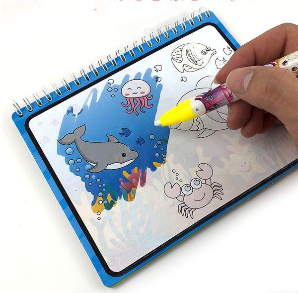 Magic Water Drawing Book Coloring Book Doodle Magic Pen Painting