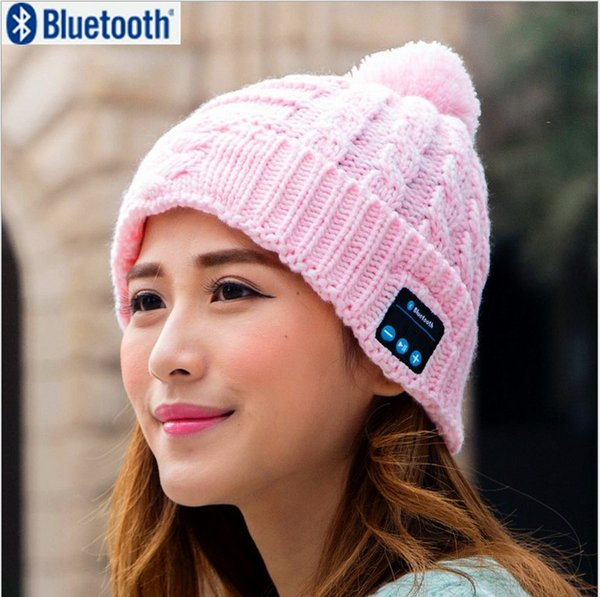 New Arrival Bluetooth beanie Hat Cap Knitted Winter Magic Hands-free Music mp3 Hat for woman Men Smartphone