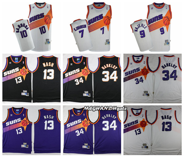release info on 77f0a c59f9 2018 Retro 2019 Phoenix Suns Basketball Jersey #13 Steve Nash #34 Charles  Barkley 9 Majerle 10 Barbosa 7 Kjohnson Stitched Basketball Jerseys From ...