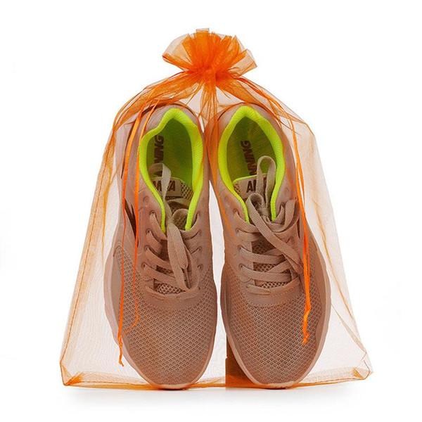 Bolsa de organza de color puro sólido de 30 * 40 cm con cordón Bolsas portátiles grandes Embalaje de regalo Envío gratis