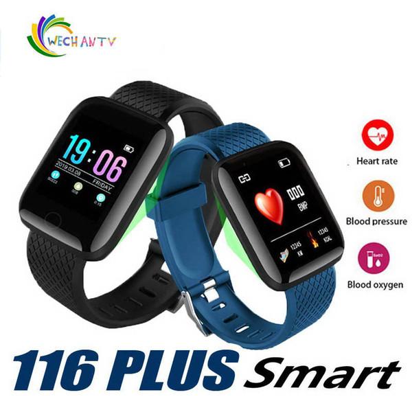 116 Plus montre intelligente Bracelets Fitness Tracker Fréquence cardiaque Étape Compteur Moniteur d'activité Bande Hommes Bracelet PK 115 PLUS pour iphone