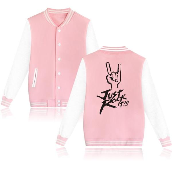 Hot Rock Band Jacket Women Capless Womens Hoodies Sweatshirts Just Rock It Popular Music Star Fans Jacket Coat Clothes