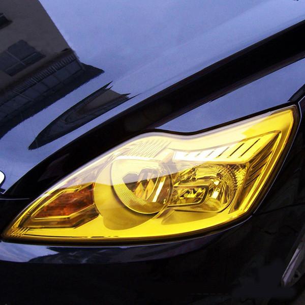 30 * 120см Авто Оттенок Фара Taillight Противотуманные фары Виниловые Курение автомобиля Lamp пленки Листовые наклейка обложка Изменение цвета наклейки