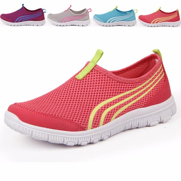LEOCI Nouvel Athlétique Femmes Baskets D'été Respirant Maille Sport Chaussures Pour Femme En Plein Air Lumière Running Chaussures