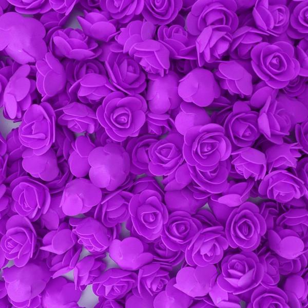 500pcs Mini PE Foam Artificial Rose Flowers Heads Wreath DIY Candy Box Material Bear Handmade Wedding Home Decoration 72XF