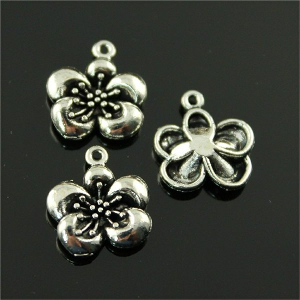 150pcs Flower Charms Flower Charms For Jewelry Making Flower Charms Alloy Metal For Jewelry Making Accessories 14x15mm