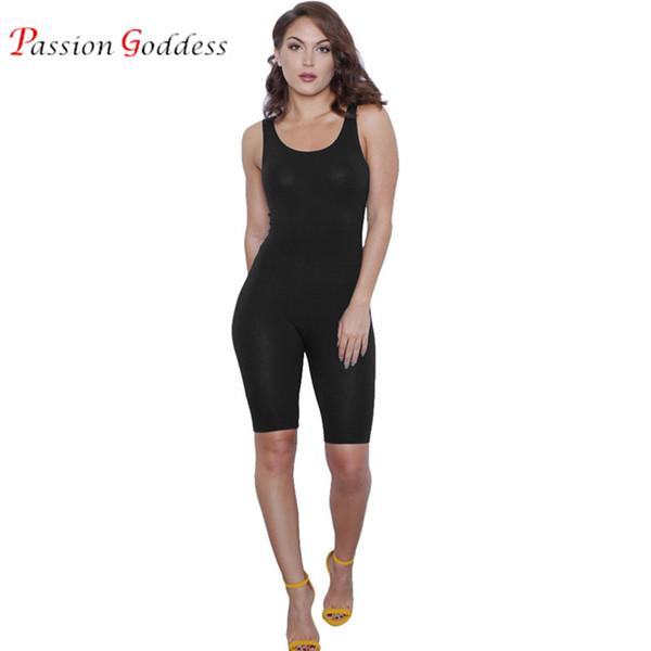 b0819a7913 2017 verano sexy jumpsuit corto para las mujeres blanco rojo negro bodycon  mono sin mangas de