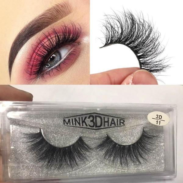 3D Mink Eyelashes Messy Eye lash Extension Sexy Eyelash Full Strip Eye Lashes By chemical fiber MMA1235