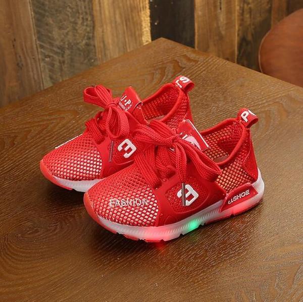 Детская полая сетка дышащая весна и лето новая спортивная обувь для мальчиков и девочек оптом и в розницу 425-19