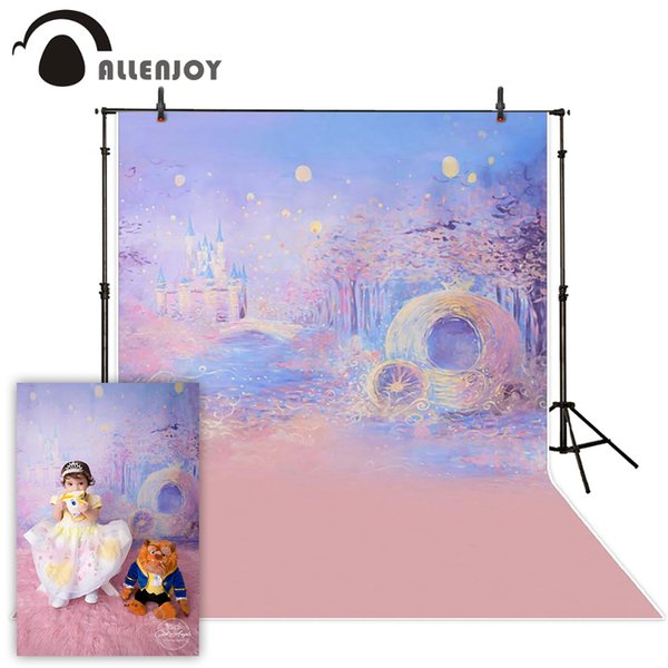 hoto Studio Backgrounds Allenjoy Photography background Blue bokeh background night castle boy girl summer backdrops for photo studio cam...