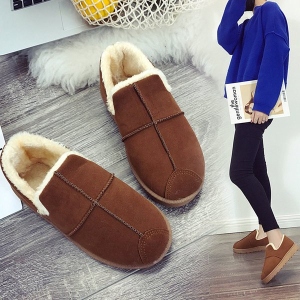 Sexy2019 Low Help Snowfield Boots Woman Pattern Student Cool Time Flat Bottom Doug Women's Shoes Bread Increase Down Protect