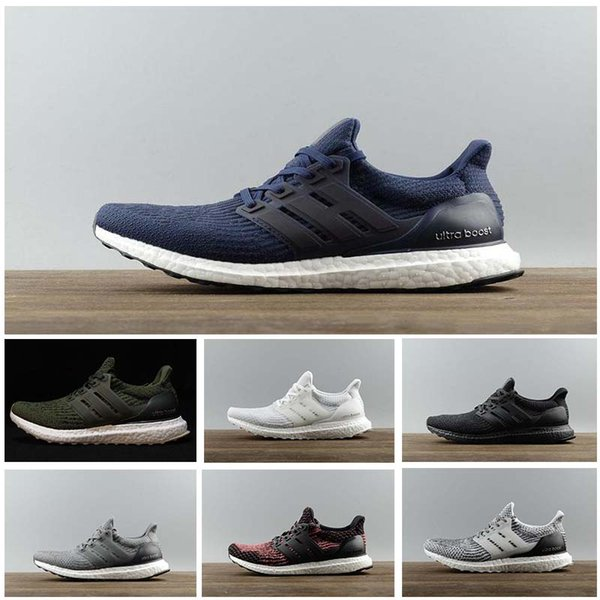 2019 3.0 4.0 Triple Black and White Primeknit Oreo CNY Blue grey Men Women Running Shoes Ultra sport Sneakers