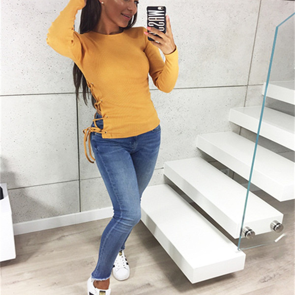 Hot Sell Sweaters fashion New Women Autumn and Winter Casual Knitted Pullover Sweater Tops Short cardigan Long Sleeves Clothing Size S-L