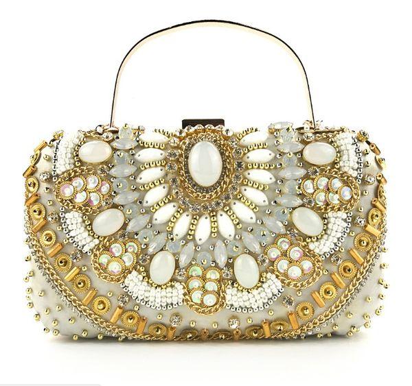 Handmade Dinner bag handmade beaded party dress ladies clutch Evening Party luxury Bridal clutch purse Handbag