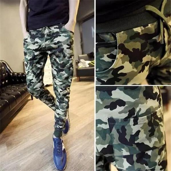 Nouveau Mens Camo Pants Casual Baggy Joggers Danse Sportwear Sarouel Pantalon Pantalon Pantalon de survêtement Army Green Pants