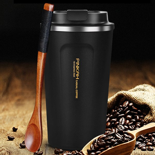Hot Sale 380 & 500ml 304 Stainless Steel Thermo Cup Travel Coffee Mug With Lid Car Water Bottle Vacuum Flasks Thermocup For Gift Q190524