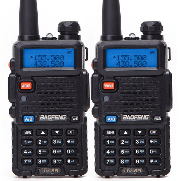 top popular 2PCS Baofeng BF-UV5R Amateur Radio Portable Walkie Talkie Pofung 5W VHF UHF Dual Band Two Way Radio UV 5r CB Radio Baofeng 888s 2021