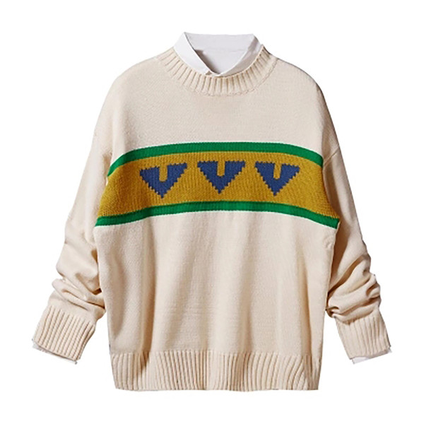 New Autumn And Winter Fashion Printing Long-Sleeved Sweater Men Pullover Turtleneck Korean Style Heren Truien Men Clothing MY20