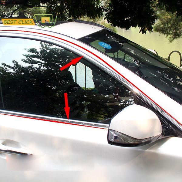 20mm Car-styling Chrome Door Side Rocker Panel Trim Molding Window Hood Body Moulding Cover Exterior Decorative Strip Garnish