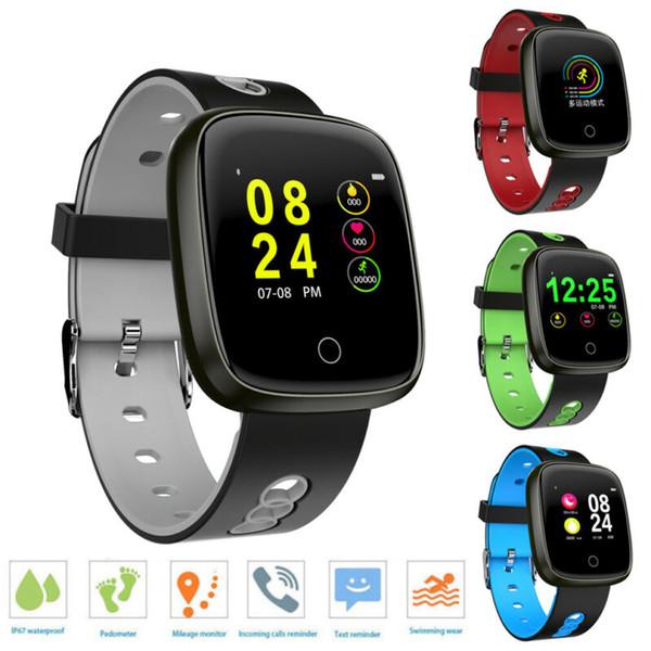 Hommes Femmes Couple intelligent Montre bracelet moniteur de fréquence cardiaque Pression artérielle Fitness Tracker Bluetooth Sport Band Bracelet