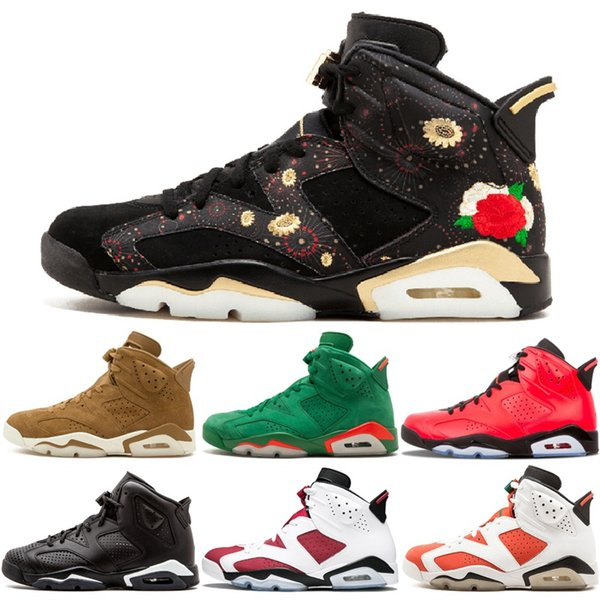 size 40 e7fa9 8d1c4 2019 Designer Shoes 6 CNY Chinese New Year Basketball Shoes Tinker UNC Blue  Black Cat White Infrared 6S Mens Trainer Sneakers US 8 13 From ...