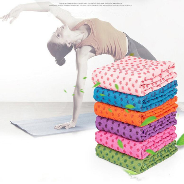 best selling Yoga Mat Towel Blanket non-slip microfiber surface rectangular carpet sofa Carpets Dots High Moisture Quick Drying Outdoor Yoga Mats D754