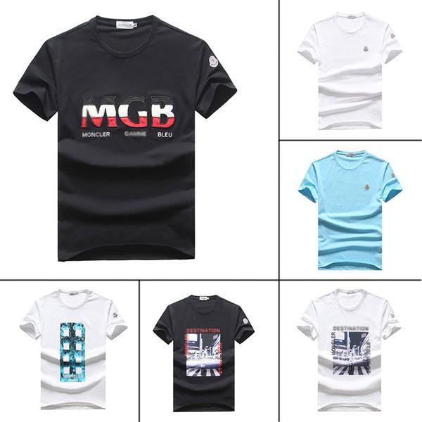 Nuevo Verano suave camiseta corta de los hombres famosa marca ostume diseñador para hombre T camisa 4r de calidad superior de algodón moda hombre desgaste fresco camiseta 1C