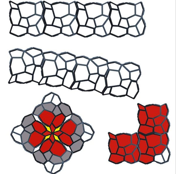 HOT Garden DIY Plastic Path Maker Mold Reusable Concrete Cement Stone Design Paver Walk Mould DIY Reusable Concrete Brick Mold 7 Design