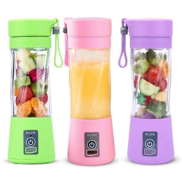 top popular Personal Blender With Travel Cup USB Portable Electric Juicer Blender Rechargeable Juicer Bottle Fruit Vegetable Tools 3377 2020