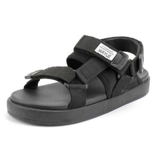 Personnalité de l'été amoureux des sandales hommes plat chaussures de plage étudiant hommes sauvages mode grande taille