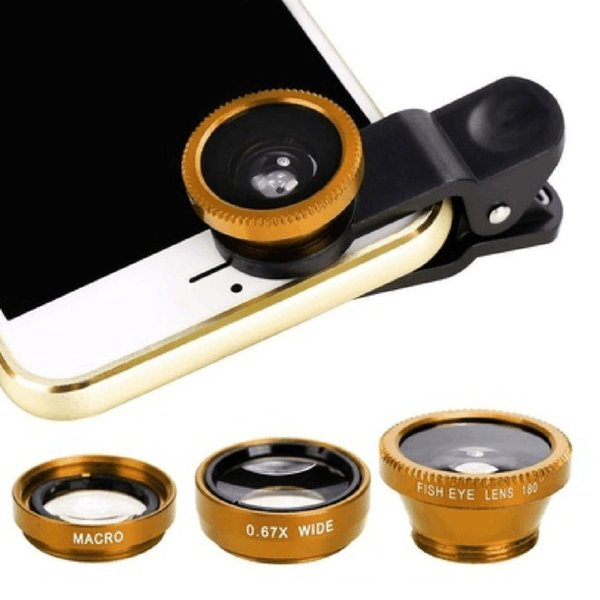 da1aba6b402c68 3-in-1 Wide Angle Macro Fisheye Lens Camera Kits Mobile Phone Fish Eye  Lenses Clip 0.67x for iPhone Samsung All Cell Phones