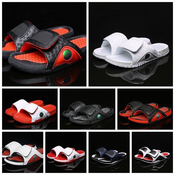 best selling Wholesale new 13 slippers 13s Blue black white red sandals Hydro Slides basketball shoes casual running sneakers size 36-45